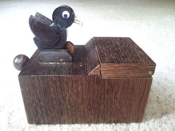 Handmade wooden bird toothpick dispenser - Toothpick dispenser bird ...