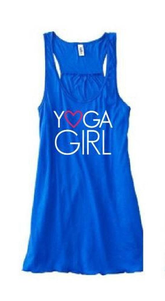 LARGE Yoga Girl Tank - Bright Blue