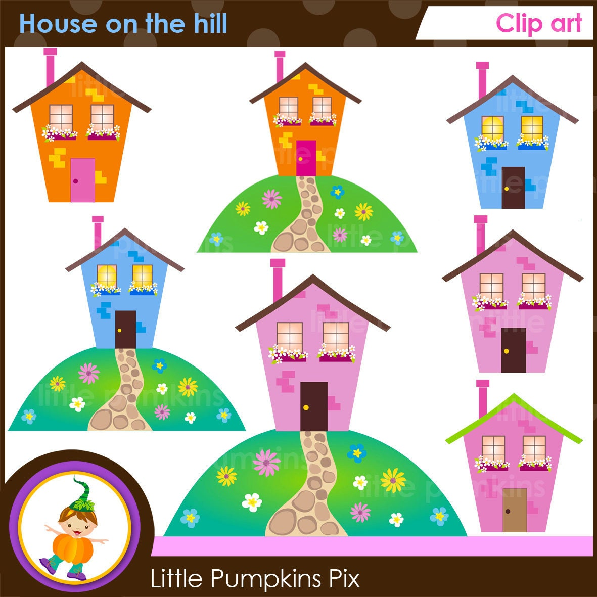 house on hill clipart - photo #4