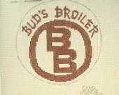 Bud's Broiler Restaurant - Needlepoint Ornament Canvas
