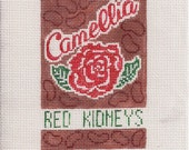 Camellia Red Beans - Needlepoint Ornament Canvas