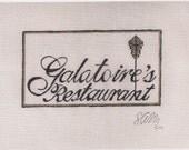 Galatoire's Restaurant - Needlepoint Ornament Canvas