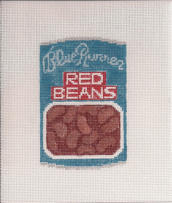 Blue Runner Red Beans - Ornament Canvas