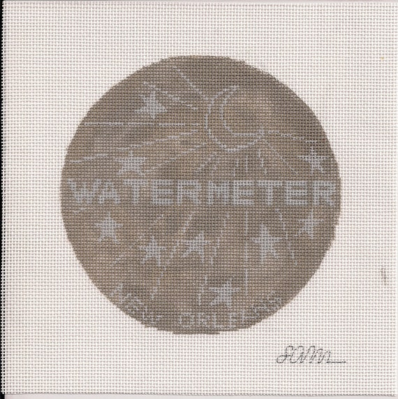 Water Meter Cover - Needlepoint Ornament Canvas