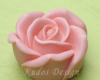 FL019 Large Rose Soap Mold, soap mold, silicone soap mold (Kudos Design, Kudosoap) Taiwan