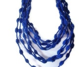 ON SALE hand crochet infinity scarf mothers day valentines day gift for her saxe blue royal blue