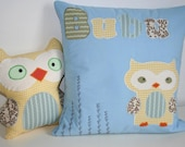 Owl toy and matching pillow cover