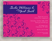 Simple Party Invitation - Engagement, Wedding, Dinner Party, Birthday