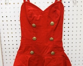 1950's red Catalina one piece swimsuit