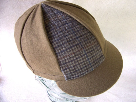 SALE--Eight Panel Wool Cycling Cap