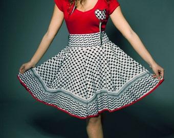 Skirt Kuffieh Style / Sun Keffiyeh Palestinian Keffiyeh skirt