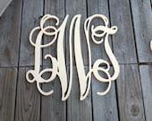 """24"""" Wooden Monogram UNPAINTED"""