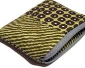 Green circles and olive stripes Zipper Pouch