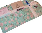 Blue Blossum Clutch Organizer Wallet in Pink Shaz blossum Florals