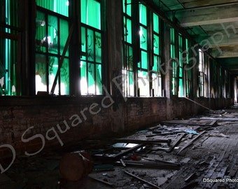 Detroit Photography - Packard Plant Hallway - Detroit, Michigan - Ruins - Cars - 8 x 10