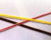 Vintage velvet ribbon combo /// lemon yellow, mocha and baby rose /// 3 meters