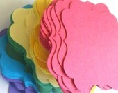 50 DIY Blank Bracket Cards in Any Color, Perfect for Wedding Favors or Candy Buffet or Scrapbook Labels