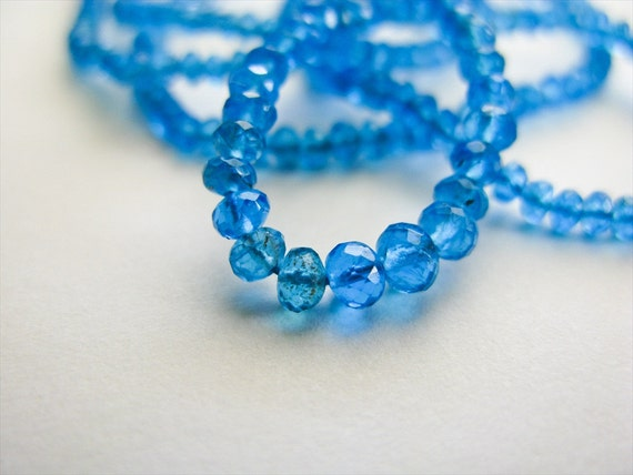 Apatite Beads, Rondelles, AAA, Micro Faceted, 1.75-2mm, 8 inches