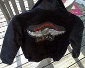 SALE Vintage 90's Harley-Davidson Leather Jacket Kids size 10