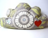 Cloud cushion pillow grey with heart