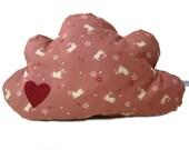 Cloud cushion rabbit and sakura