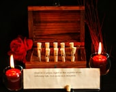 Personalized Love Messages in Bottles in a Treasure Chest