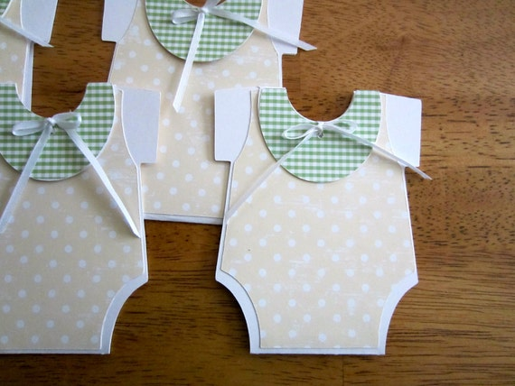 Custom Listing for Carol - Handmade Baby Shower Invitation - Onesie Shape