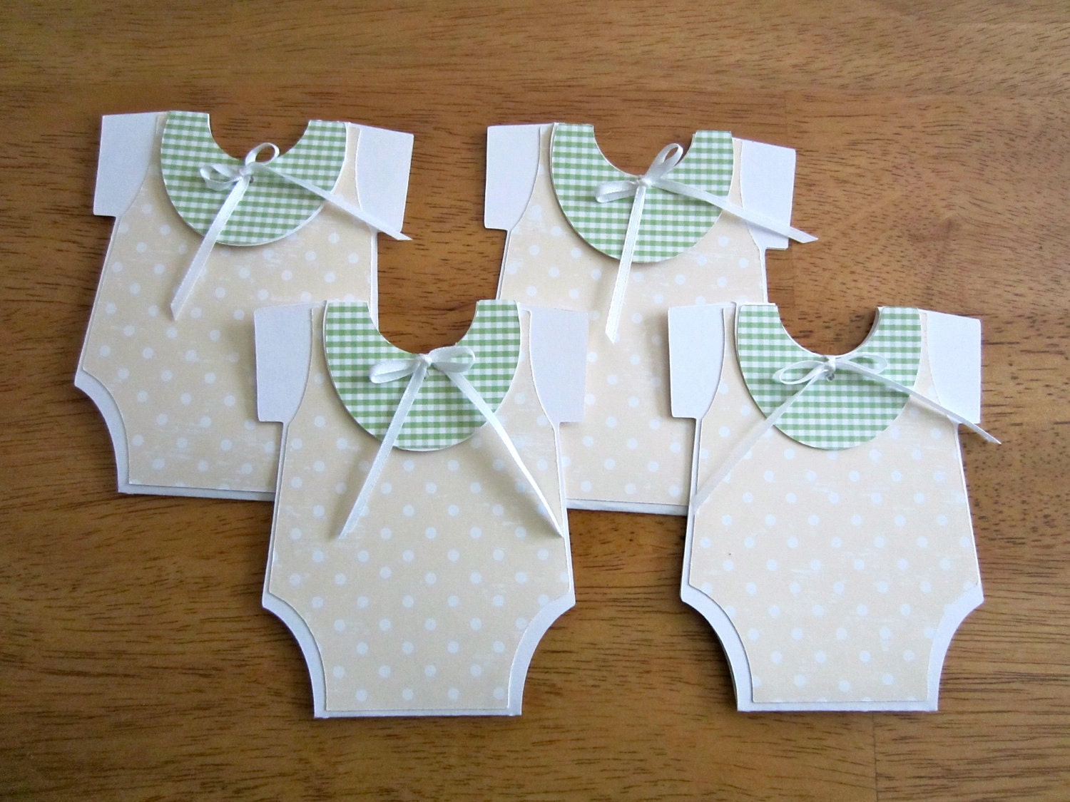 Unique handmade baby shower invitation onesie shape for Baby shower decoration ideas homemade