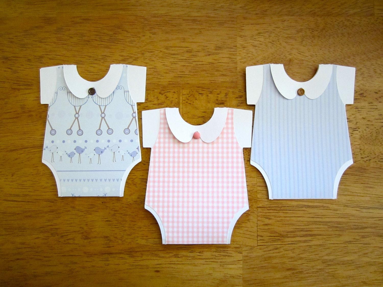 handmade baby shower invitation onesie shape