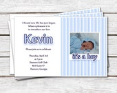 Baby Announcement Invitation for Baby Boys or  Baby Girls