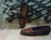 80s flats in brown. Womens size 10.
