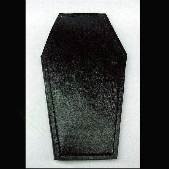 Leather Wallet coffin biker style