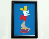 Custom Retro Circus Seal Poster - 11x17 - Printable Digital File