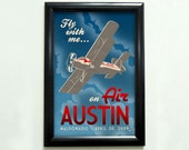 Custom Retro Airplane Poster - 11x17 - Printable Digital File