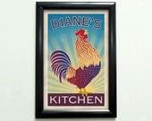 Custom Rooster Poster - 11x17 - Printable Digital File