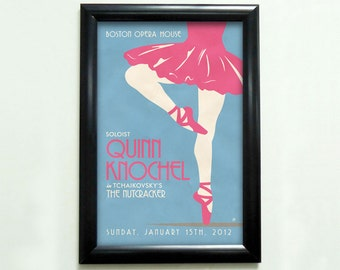 Custom Retro Ballet Poster - 11x17 - Printable Digital File
