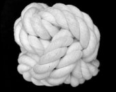 All Natural Cotton Rope Dog Toy - Ball - Monkey's Fist Knot