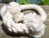 Small // All Natural Cotton Rope Dog Toy Tug Pull Ring