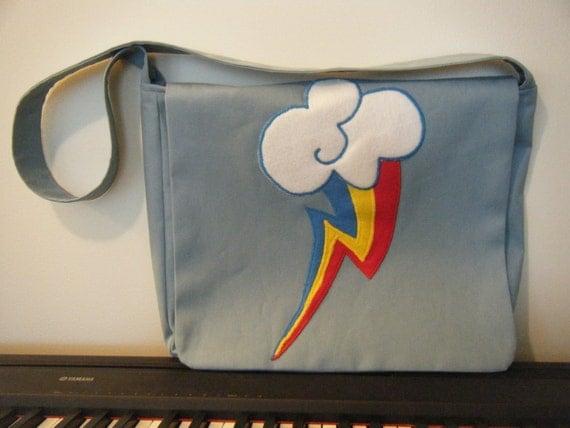 Rainbow Dash cutie mark messenger bag