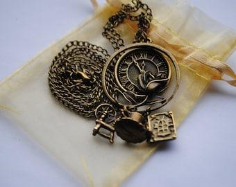 LAST ONE!! The Original! Once Upon A Time Rumbelle (Rumplestiltskin/Belle) Charm Necklace