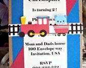 Train Invitations,Childrens Birthday Invitation,Boys Birthday Invitation ,