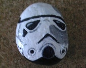 Stormtrooper painted rock