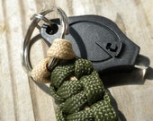 Olive Drab Paracord Key Chain with Light