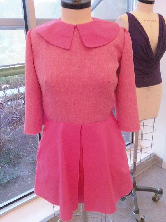 Adorable Pink 60s Mini Dress
