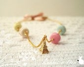 All Time Favourite: Eiffel Tower and Macarons Gold Bracelet, Gift