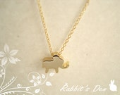 10% Off Sale: 14K Tiny Elephant Gold Filled Necklace