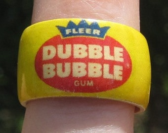 Dubble Bubble Gum -- Adjustable Wood Ring