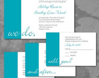 "Custom ""We Do"" Wedding Invitations"