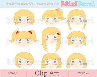 Blonde girl clipart