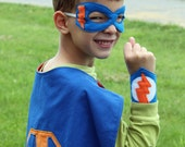 Super Hero Kids Personalized Cape, Mask, and Wrist Bands